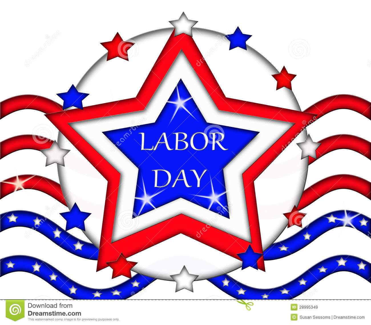 Labor Day Clipart Labor Day Flag Sign Banner 28995349 Jpg