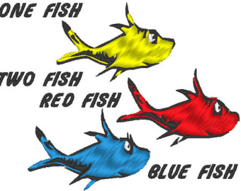 One Fish Two Fish Red Fish Blue Fish Clip Art   Clipart Panda   Free