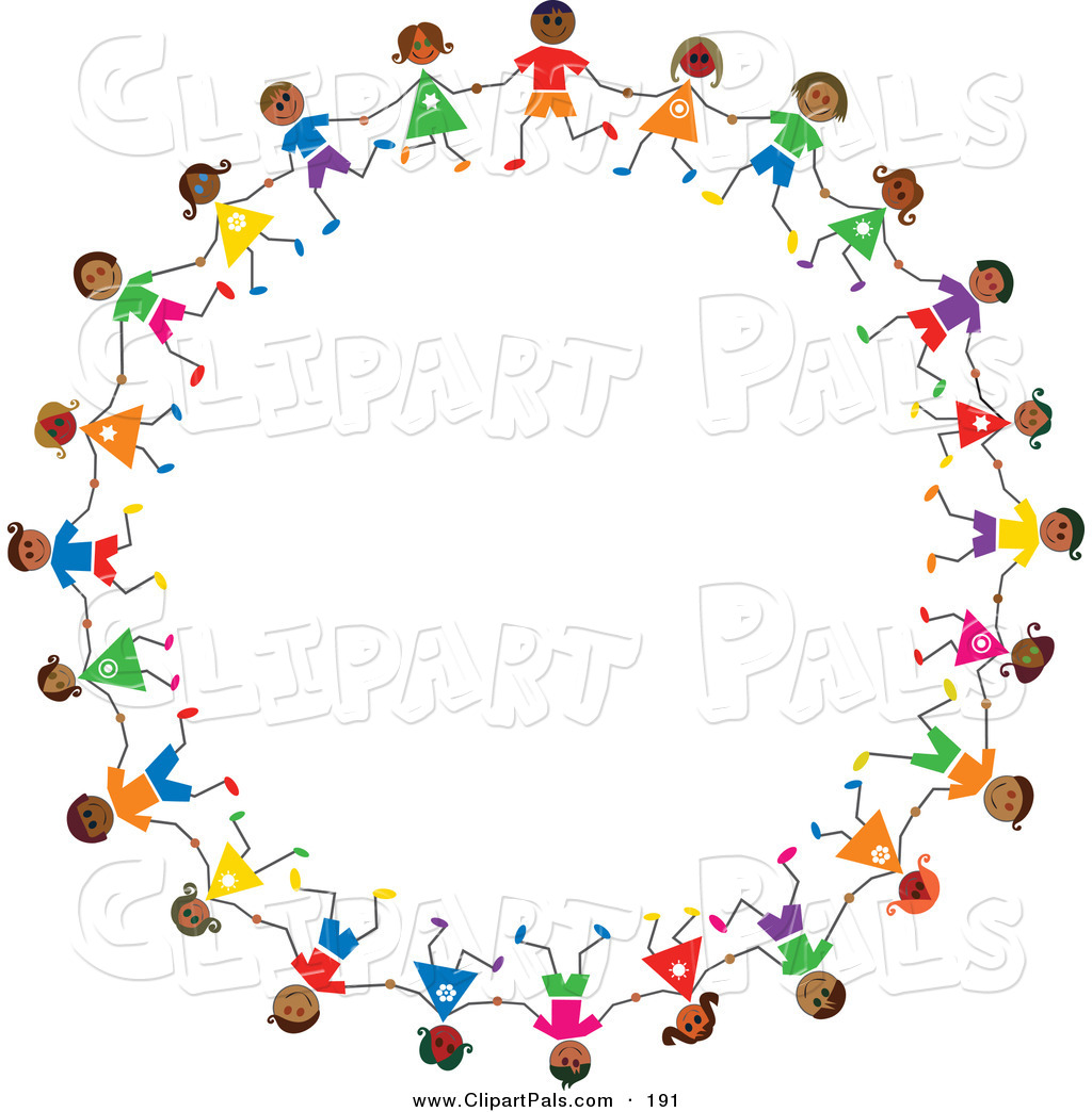 Pal Clipart Of A Ring Of Hispanic Stick Children By Prawny    191