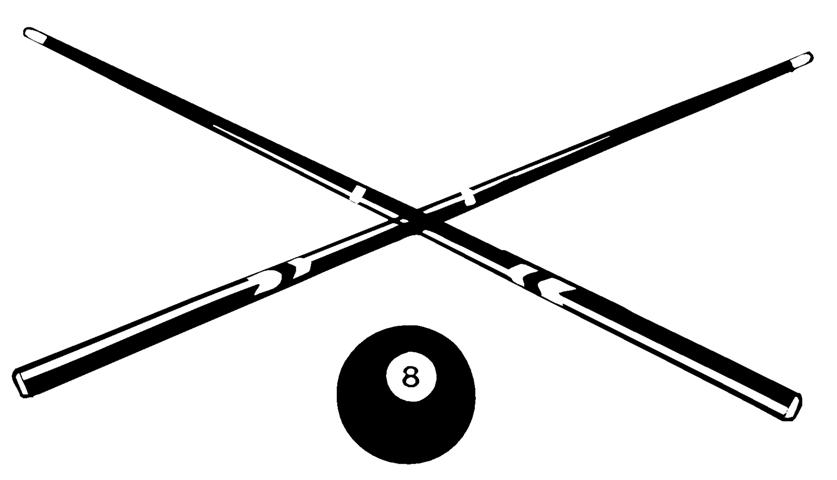Crossed Pool Cue Clipart Clipart Suggest
