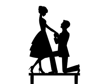 proposal silhouette marriage proposal silhouette clipart clipart suggest 684