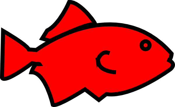 Red Fish Clipart Fish Outline Red Clip Art