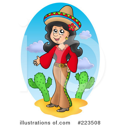 Royalty Free  Rf  Hispanic Woman Clipart Illustration By Visekart