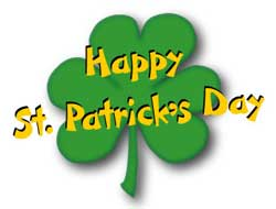 Shamrock Clip Art With Gold Word Art   Happy St  Patrick S Day