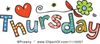 Thursday Clip Art Thursday Colorful Clipart