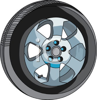 Tires And Rims Clipart Car Tire With Fancy Rims