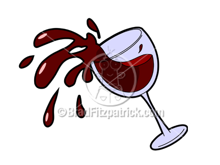 Cartoon Wine Glass Spilling Picture