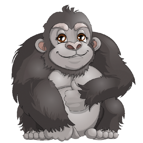 Cute Gorilla Clipart - Clipart Kid