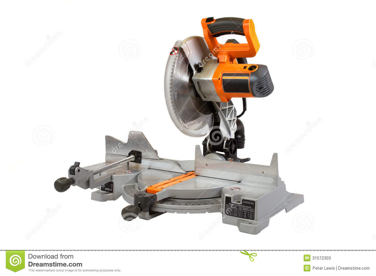 Compound Miter Saw Isolated On A White Background