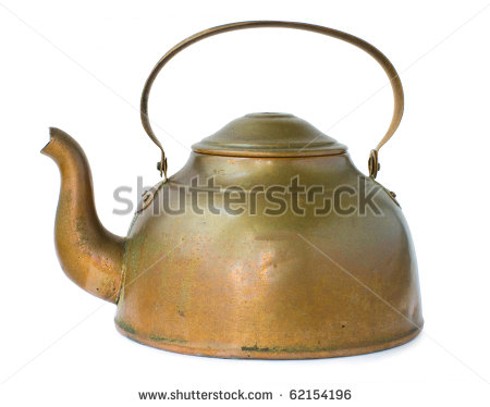 Copper Kettle Isolated On White Background   Stock Photo