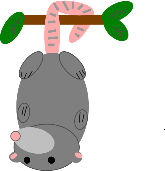 Free Cute Possum Clip Art