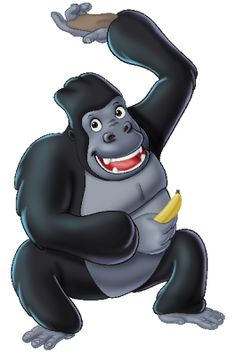 Cute Gorilla Clipart - Clipart Suggest