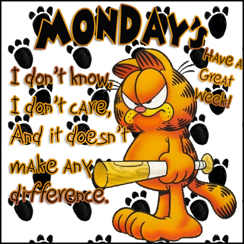 Garfield Beating His Monday Blues