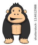 Gorilla Angry Clip Art Vector Gorilla Angry   141 Graphics   Clipart