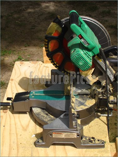 Picture Of Compound Miter Saw  Royalty Free Picture At Featurepics Com