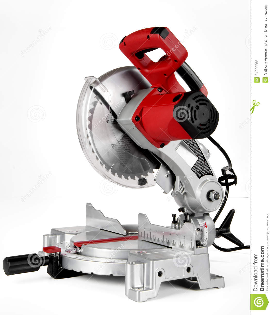 Power Miter Saw  Chop Saw  Shot On A White Background