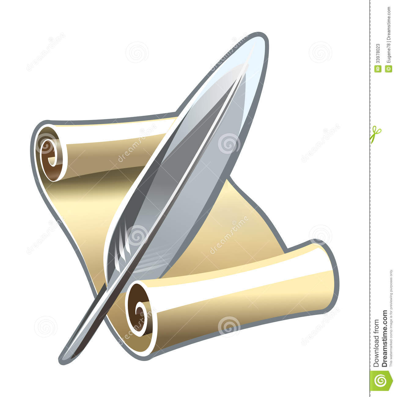Scroll Quill Pen Clipart - Clipart Suggest