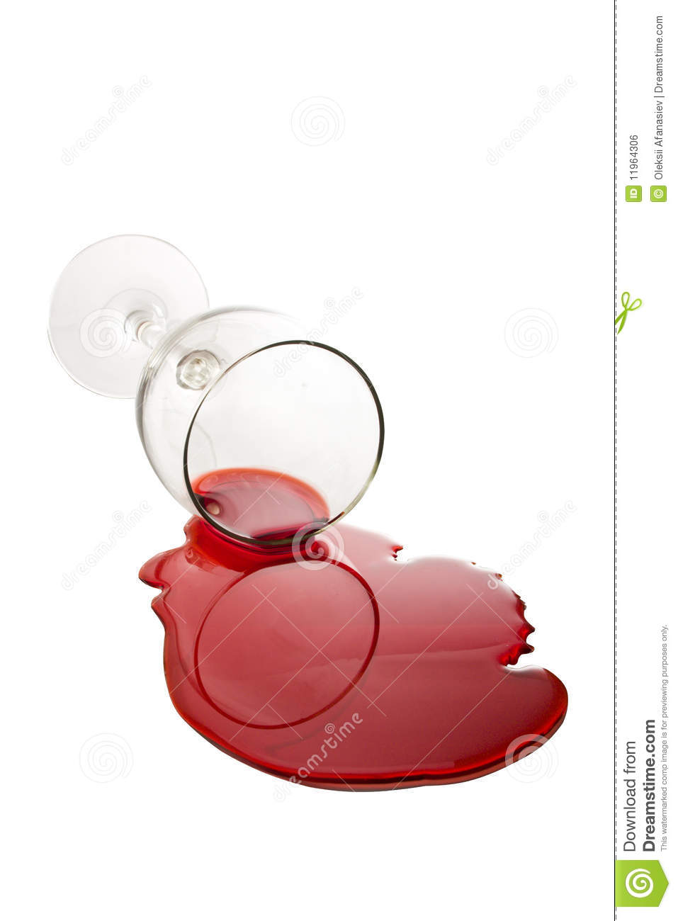 Spilled Wine Glass Royalty Free Stock Image   Image  11964306