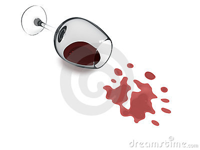 Spilling Wine Glass Clip Art Spilled Wineglass With A Red