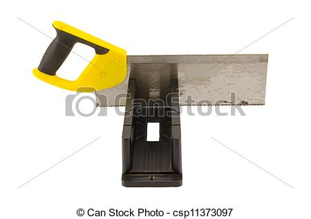 Stock Photographs Of Saw Angle Cut Miter Box Tool On White   Hand Saw