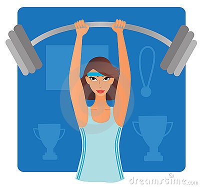 Strong Girl Clipart Strong Woman Bar Bell 19966358 Jpg