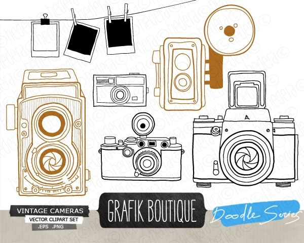 Vintage Camera Vector Clip Art  Vintage  Camera  Clipart