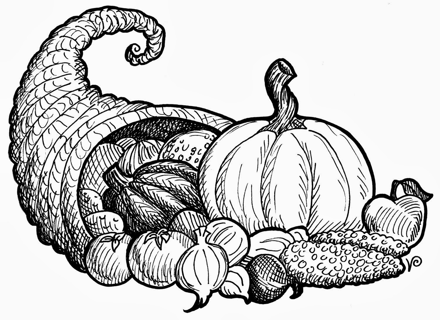 At First I Was Considering Some Cornucopia Clip Art Instead