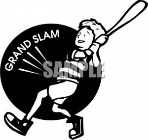 Baseball Grand Slam Sign   Royalty Free Clipart Picture