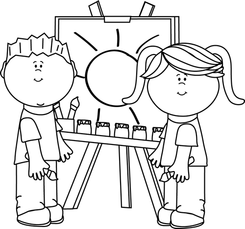 Black And White Preschool Clipart - Clipart Kid