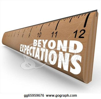 Clip Art   Beyond Expectations Ruler Exceed Results Great Job  Stock
