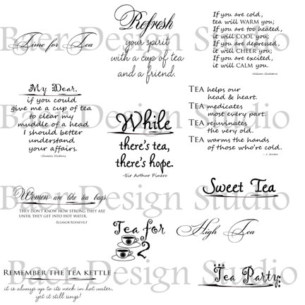 Digital Quotes And Word Art About Tea For Tea Parties  Clip Art