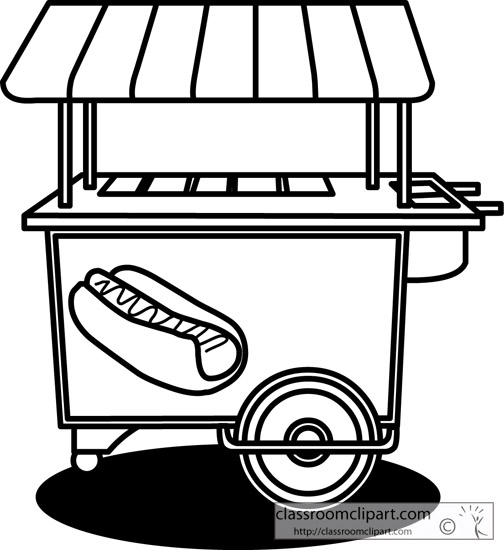 Food Cart Coloring Pages