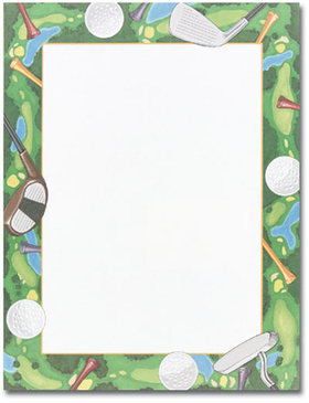 Get Ready To Tee Off With This Golf Course Themed Paper  The Border Is