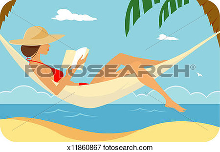 In Hammock Reading Side View X11860867   Search Eps Clipart Drawings