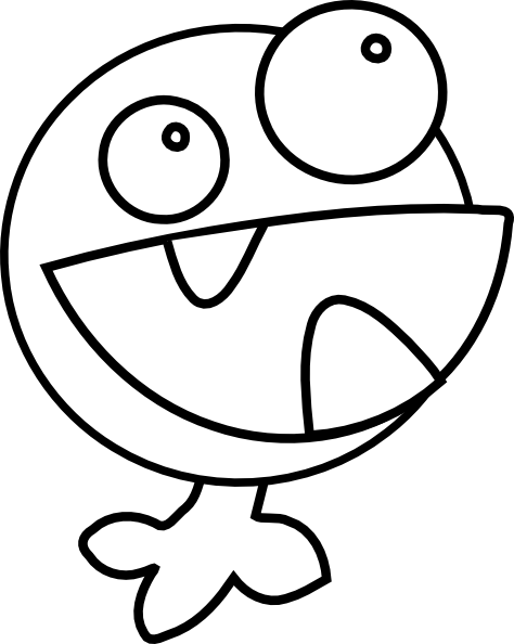 coloring pages of cute monsters - cute monster black and white clipart clipart suggest