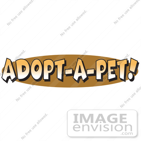 Royalty Free Cartoon Clip Art Of An Internet Web Button Reading Adopt