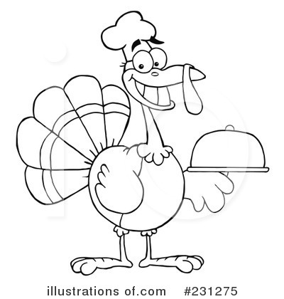 Royalty Free  Rf  Thanksgiving Turkey Clipart Illustration By Hit Toon