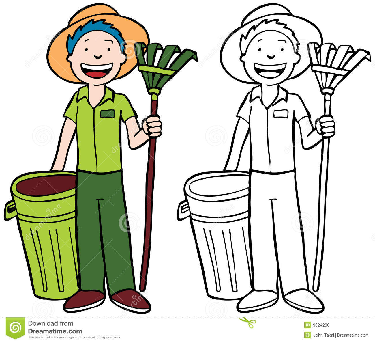 Yard Clearing Clip Art