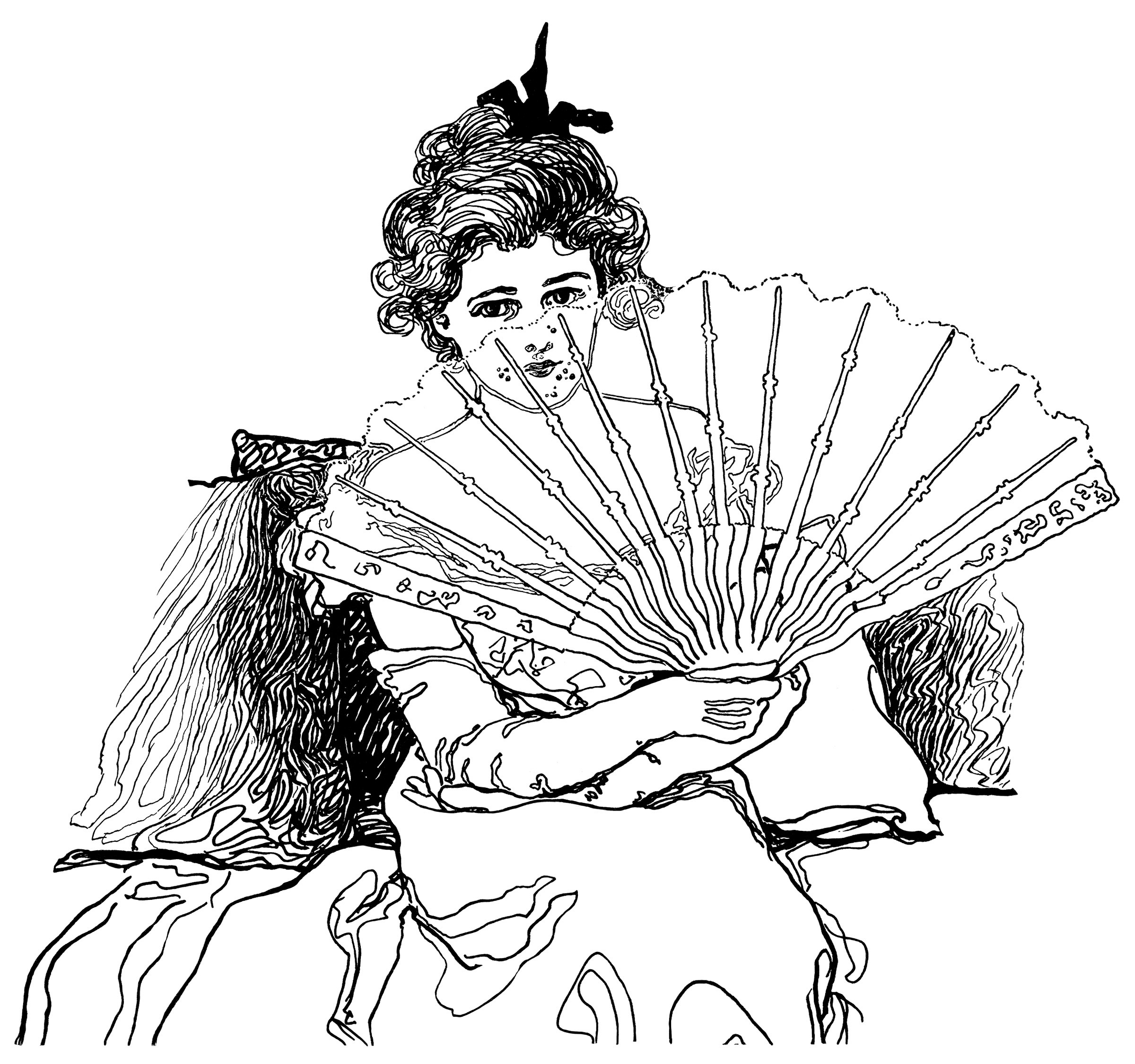 As  Black And White Clip Art  Victorian Lady  Vintage Lady Clipart