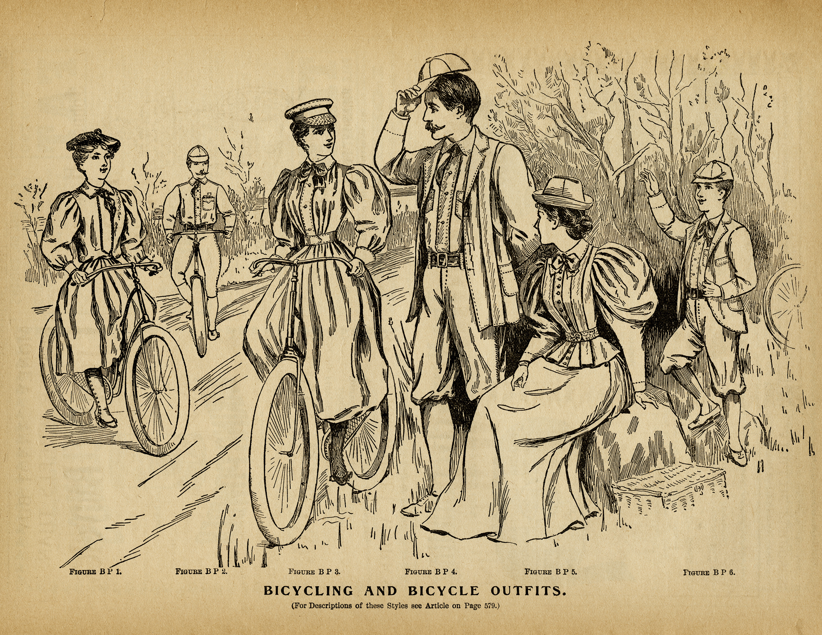 Black And White Clip Art Antique Bike Clipart Victorian People Image