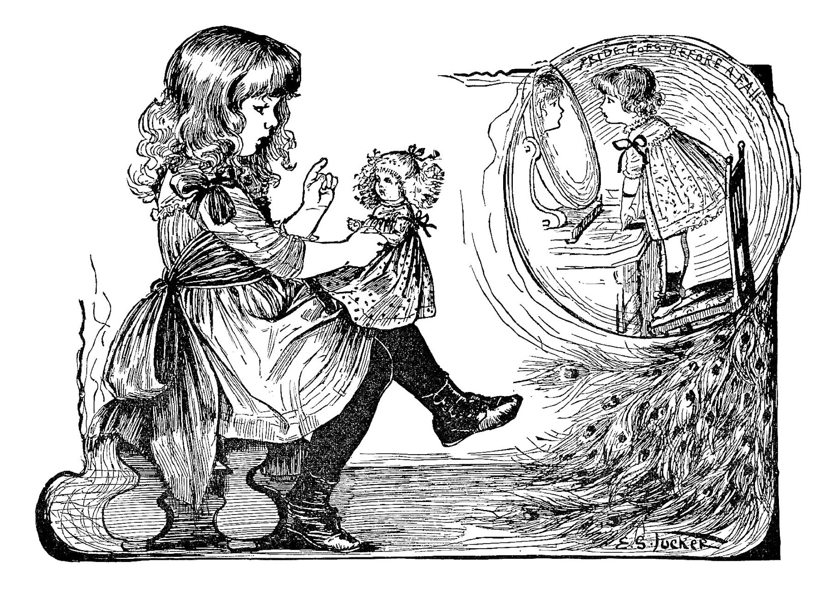 Black And White Victorian Clip Art
