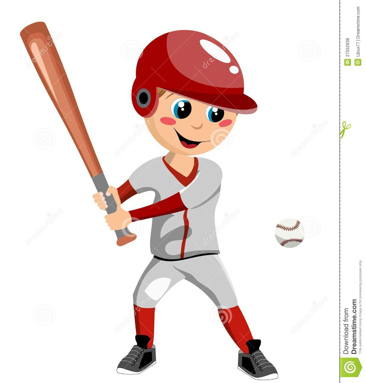 Boy Playing Baseball Isolated On White Background  You Can Find