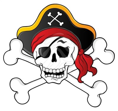 Pirate Skull Clipart - Clipart - 28.2KB