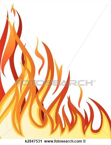 Clipart Of Fire Background K2847531   Search Clip Art Illustration