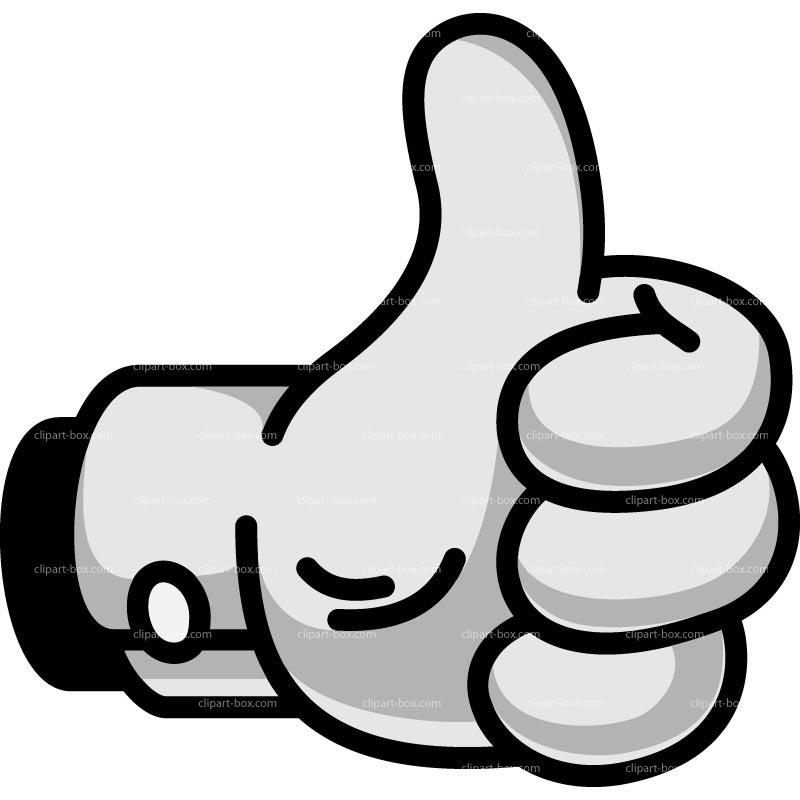 Clipart Thumb Up   Cartoon Style   Royalty Free Vector Design