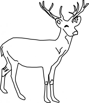 Deer Clip Art Free Vector In Open Office Drawing Svg    Svg   Format