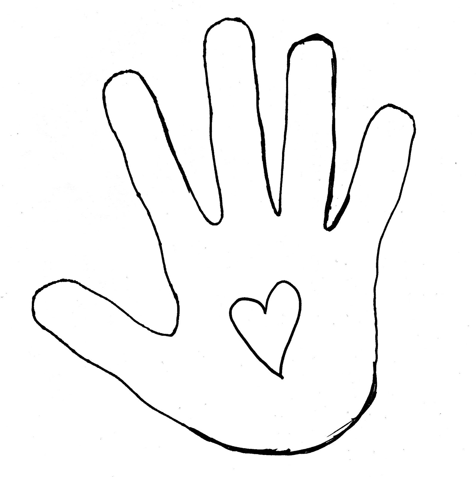 Hand Outline Clipart - Clipart Suggest