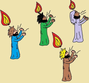 Holy Spirit Holy Ghost Clipart Cloven Tongues Of Fire Acts 2 3