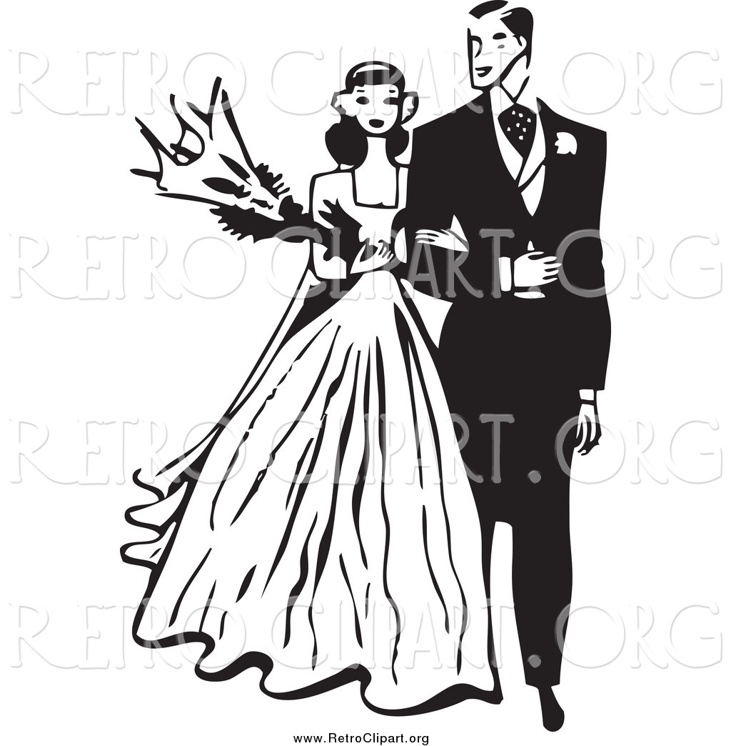 Wedding Couple Black And White Clipart - Clipart Kid