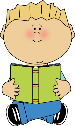 Boy Reading Book Clipart - Clipart Kid